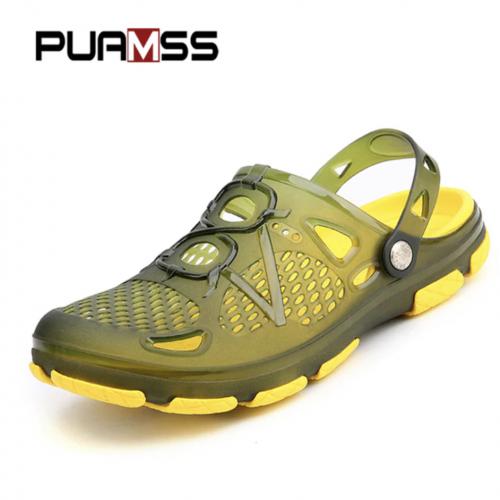 Sandalias de verano para hombre verde
